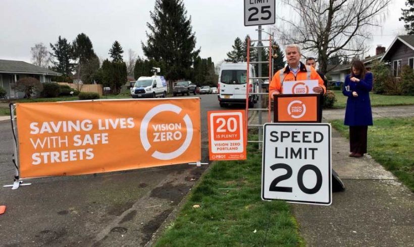 Limite a 30 km/h negli Usa. Portland lo fissa per il 70% delle strade cittadine